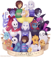 Undertale :POSSIBLE SPOILERS: + Speedpaint by RingaButt