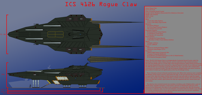 Rogue Claw Starship Design by Tank50us