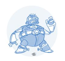 010 - Obese Chuck Norris Robot by thisisnotnoah