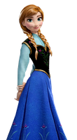 Anna |Frozen| PNG by lulidiaz59