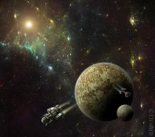 Far into outer space by dilarosa