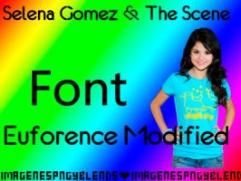 Euforence Modified Font by ImagenesPNGyBlends