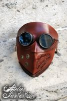 Steampunk goggles leather mask Arakis by AtelierFantastique
