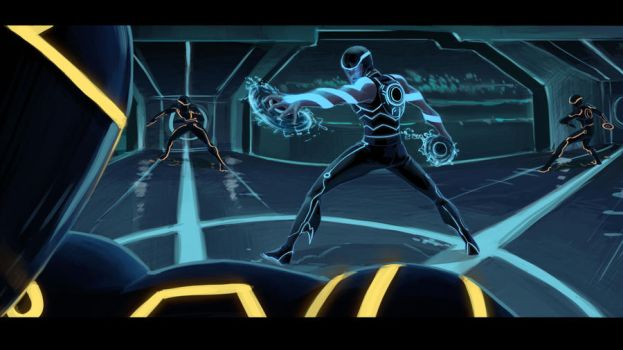 Aqualad and... Tron...? by Oniwolf12