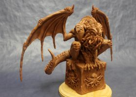 Cthulhu Statue by shaungent