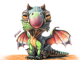 Chibi Dragon [3DS] by Twarda8