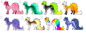Rainbow dog designs for points~ (OPEN) by KandiChromeAdopts