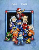 MEGAMAN 3BUTE - STAGE SELECT by Firebrander