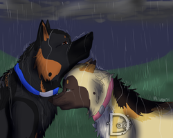 .:By My Side + SPEEDPAINT:. by DarkWolfArtist