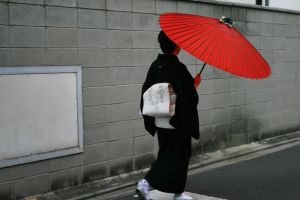 Japan: Red Umbrella by mogwai-puant