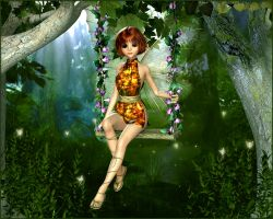 The Faery Swing by joannastar