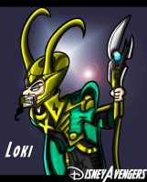Disney Avengers Loki by PhillieCheesie