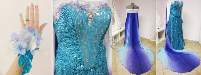 Elsa Inspired Prom Gown by Firefly-Path