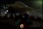 Halloween Spoopy Pones 4/7 Scary 'Stitched' horse by Phoeberia