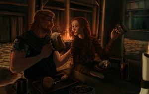 Commission - Bjorn and Sigrid by shutterbones