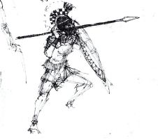 hoplite, overhand thrust by strappinyounglad
