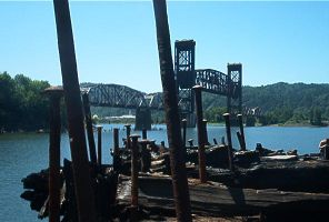 Steel Bridge in Portland from the pirate ship by Siren0471