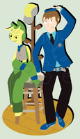 PokeProm: Eric and Aoshi by OddPenguin