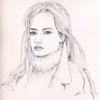 Lexi Boling, Plane Pen Sketch by Nieseln