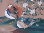 Mandarin Ducks painting by IronAries