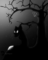Fox in the Night by NightMagican