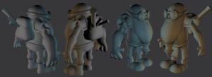 WIP Dwarf Final Geo by 3dmodeling