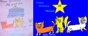Remastered Art for B-day Before and After by Snoopy7c7