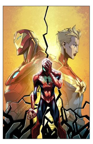 Cover: Civil War II: Amazing Spider-Man #1 by E-Mann