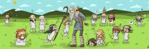 The Hobbit, an unexpected Flock by AlyTheKitten
