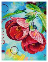 Red Abutilon by TooMuchColor