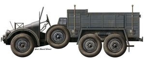 German - Krupp Protze Kfz70 by araeld