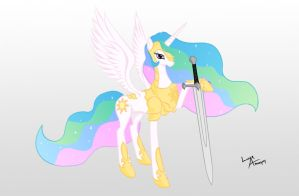 Warrior Celestia by lunarapologist