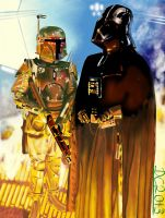 Darth Vader and Boba Fett by David-c2011