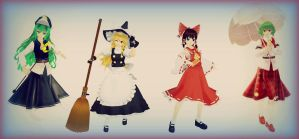 Touhou: The Four Heroine by thebigblackdevil5