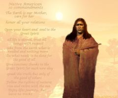 Native American 10 Commandment by anniecorrina
