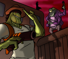 Thrax's New Outfit Contest Prize: Henchies by R2ninjaturtle