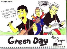 Green Day on Simpson movie by Maudpx
