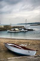 lonely boat by dirart