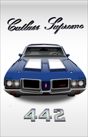 oldsmobile cutlass supreme 442 by pattysmear