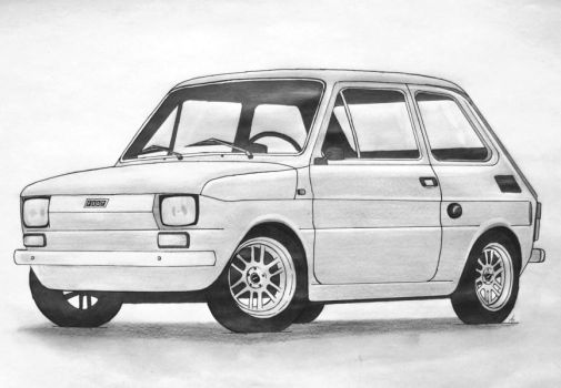 Fiat 126 Maluch by daughter-of-chaos92