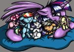 Twilight and The Mane Five by Crystal-Leviathan