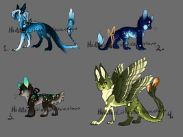 Mixed Species Adopt Sheet (Closed) by HiddenCities