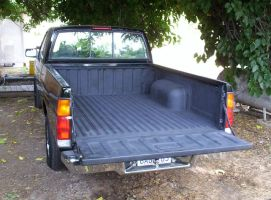 Truck Bed Repainted By Hand by erwebb