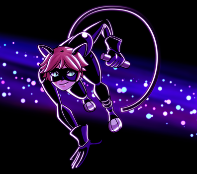 chat noir by junawashere