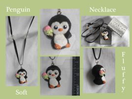Polymer Clay Soft Penguin by Lisas-Art-Endeavors