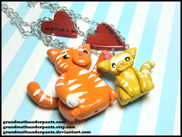 Tabby Love Necklace Set by GrandmaThunderpants