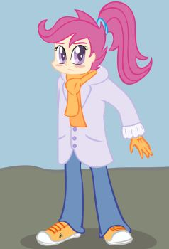 Scootaloo humanization. by GerasimovaJanna