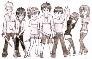 Characters from Camp Half-Blood by Artemis015