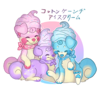 Commission: Cotton Candy Icecream by makashy