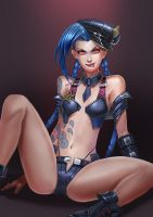 NSFW officer Jinx! by BADCOMPZERO
